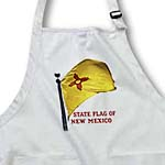 click on State Flag of New Mexico - Textured (PD-US) to enlarge!