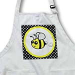 click on Cute Yellow Bumble Bee on Black and White Polka Dots  to enlarge!