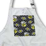 click on Cute Yellow Bumble Bee Print on Black and White Polka Dots  to enlarge!