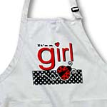 click on Its a Girl - Cute Red Ladybug Black and White Polka Dots to enlarge!