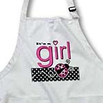 click on Its a Girl - Cute Pink Ladybug Black and White Polka Dots to enlarge!