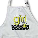 click on Its a Girl - Cute Yellow Bumble Bee Black and White Polka Dots to enlarge!