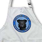 click on Owned By a Brussels Griffon Dog Black Coat - Blue to enlarge!