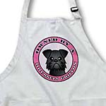 click on Owned By a Brussels Griffon Dog Black Coat - Pink to enlarge!