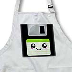 click on Kawaii Cute Happy Floppy Disk - Retro 90s computer storage disk - Fun Smiley with Green label to enlarge!