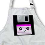 click on Kawaii Cute Happy Floppy Disk - Retro 1990s computer storage disk - Cool Smiley with Hot Pink label to enlarge!