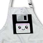 click on Kawaii Cute Happy Floppy Disk - Retro computers - Japanese Anime cartoon with lilac purple label to enlarge!