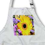 click on Sunflower With Purple Flowers to enlarge!