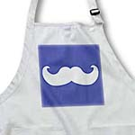 click on White mustache on navy blue - Ironic hipster moustache - Humorous - Fun - Whimsical - Silly - Funny to enlarge!