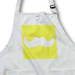 click on White mustache on mustard yellow - Ironic hipster moustache - Humorous - Fun - Whimsical - Funny to enlarge!
