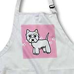 click on Cute Cartoon West Highland Terrier - Westie Dog on Pink Paw Prints to enlarge!