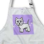 click on Cute Cartoon West Highland Terrier - Westie Dog on Purple Paw Prints to enlarge!