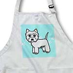 click on Cute Cartoon West Highland Terrier - Westie Dog on Blue Paw Prints to enlarge!
