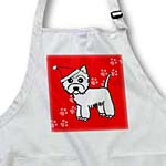 click on Cute Cartoon West Highland Terrier - Westie Dog Santa Hat Red to enlarge!