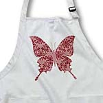 click on Pretty Muted Red Damask Butterfly to enlarge!