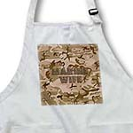 click on Desert Gulf War Camouflage with Flag Font - Marine Wife to enlarge!
