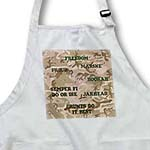 click on Desert Gulf War Camouflage with Marine Sayings to enlarge!