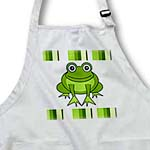 click on Cute Happy Green Frog with Stripes to enlarge!
