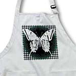 click on Pretty Lacey Butterfly On A Green and Black Houndstooth Background to enlarge!