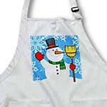 click on Snowman With Snowflake Background  to enlarge!