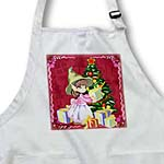 click on Girl Elf Opening Up Presents With Christmas Background  to enlarge!