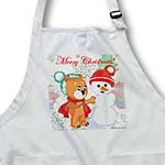 click on Cute Bear and Snowman With Christmas Background and Text  to enlarge!