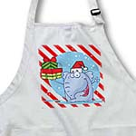 click on Goofy Elephant Christmas With Candy Cane Background  to enlarge!