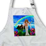 click on Truly beautiful tropical Island, flowers, rainbow and magical angel releasing a dove to enlarge!