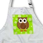 click on Cute Brown Owl on Bright Green Background to enlarge!