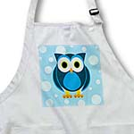 click on Cute Blue Owl on Light Blue Background to enlarge!