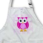 click on Cute Pink Owl on Light Pink Background to enlarge!