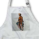 click on Vintage Patriotic Knight with U.S. Flag Shield to enlarge!