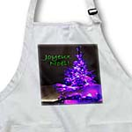 click on Pretty Christmas Tree Joyeux Noel in Purple with Green Text to enlarge!
