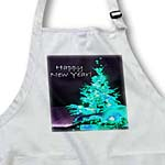 click on Pretty Christmas Tree Happy New Year in Ice Blue With White Text to enlarge!