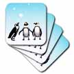 click on Penguins Playing In Snow to enlarge!