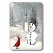 click on Cardinal And Snowman In Winter to enlarge!