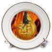 click on Devil on Jack o Lantern with Modern Flames Background to enlarge!