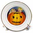 click on Vintage Halloween Jack o Lantern with Girl and Boy to enlarge!
