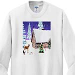 click on Woodland Cottage Christmas With Deer, Squirrel, And Hare to enlarge!