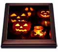 click on Candle Lit Jack o Lanterns and Bat Decorated Glass Luminare to enlarge!