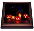 click on Glow from Jack o Lanterns, Table with Spiders and Dark Flowers to enlarge!