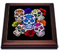 click on Sugar Skulls and Roses Mardi Gras, Halloween, 3drsmm to enlarge!
