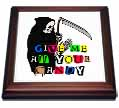 click on Grim Reaper Give Me Candy in Ransom Note Halloween, 3drsmm to enlarge!