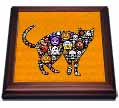 click on Scary Halloween Cat, Mosaic Style, 3drsmm  to enlarge!