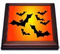 click on Flying Black Bats with Red Eyes Orange Sky Halloween, 3drsmm to enlarge!