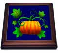 click on Halloween Pumpkin on the Vine Rich Blue Background to enlarge!