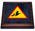 click on Witch Crossing with Black Cat and Broom Warning Sign, 3drsmm to enlarge!